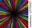 Striped abstract background.  Varicolored zebra print. Vector illustration. - stock vector