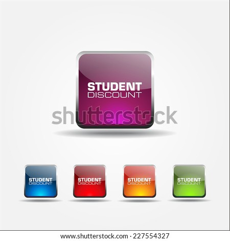 Student Discount Colorful Vector Icon Design