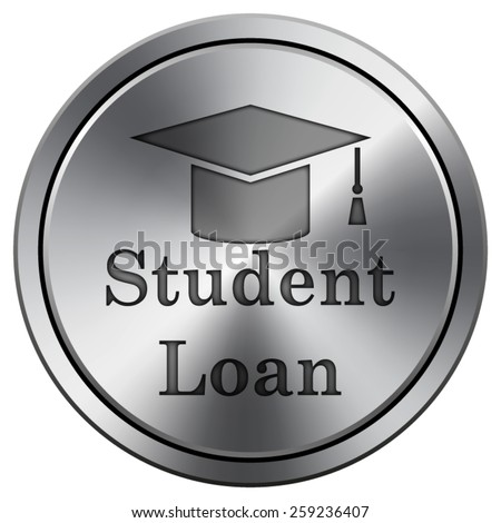 Student loan icon. Internet button on white background. EPS10 Vector.