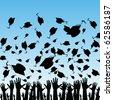 Students Graduating - stock