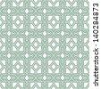 Stylish Arabic,Morrocan  pattern. A seamless vector background.Geometric white texture. - stock