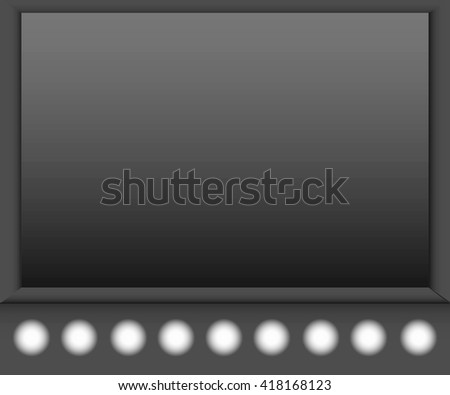 Stylish black background with light effects. Blank black interior, stage, theater