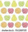 Stylized fruit pattern - stock vector