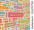 SUCCESS. Word collage. Vector illustration. - stock vector