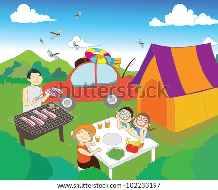 Summder Vacation with Camping