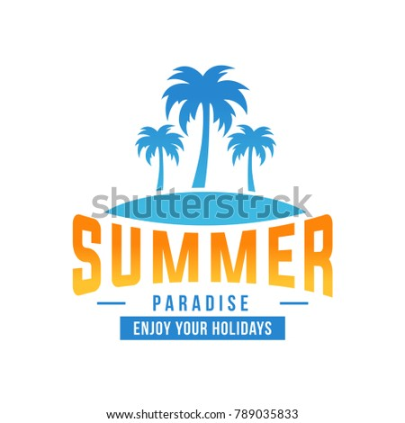 Summer Beach Logo Coconut Tree Design Template Vector EPS 10