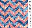 Summer Chevron Camouflage Seamless Background Pattern - stock vector