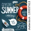 Summer creative design template - stock