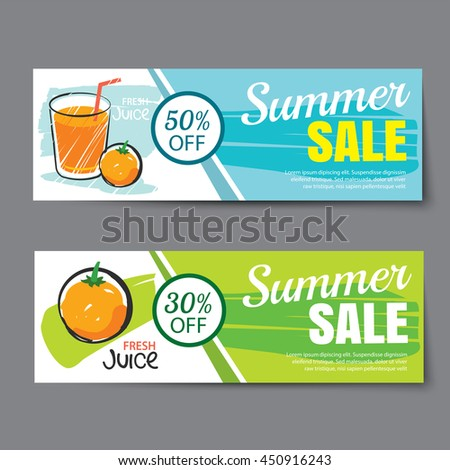 Discount Voucher Template Thai Food Flat Stock Vector
