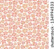 Summer seamless floral pattern. Rose endless texture with stylized flowers. Template for design and decoration fabric, wallpaper, background, package - stock vector