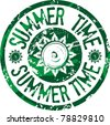 Summer time stamp - stock photo