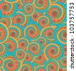 Sunny Abstract seamless pattern tiled with colored detailed design circles - stock vector