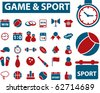 super game & sport signs. vector - stock vector