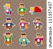 superhero stickers - stock photo