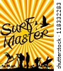 surf master - stock vector