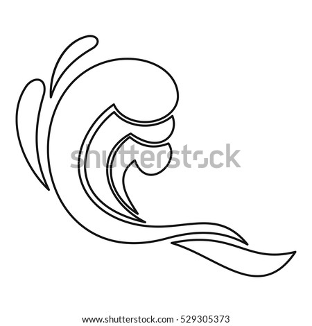 Water Wave Icon Simple Illustration Water Stock Vector ...