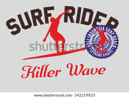 Surf Rider graphic design vector art
