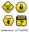 surveillance labels isolated over white background. vector - stock photo