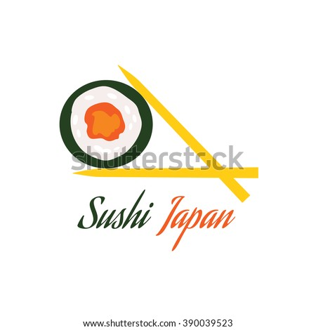 Japanese Cuisine Set Dishes Flat Style Stock Vector