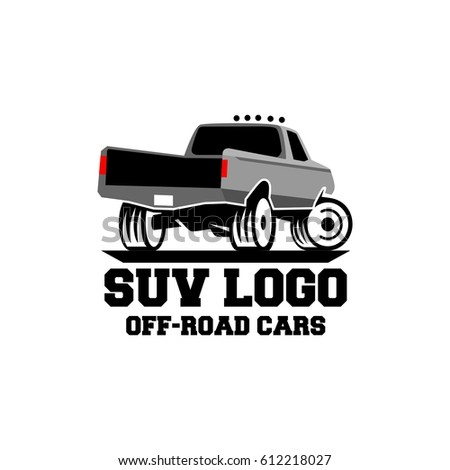 Suv Safari Trip Logo Design Stock Vector Shutterstock