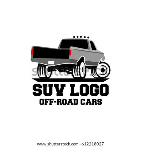 Suv Safari Trip Logo Design Stock Vector Shutterstock