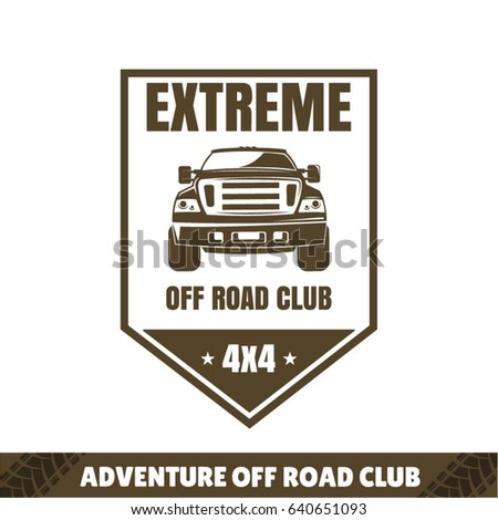 Suv Logo Travel Icon Emblem Offroad Stock Vector