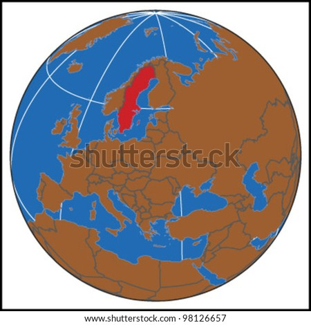 Sweden Locate Map