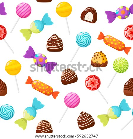 Candies Sweetmeats Assorted Chocolates Colorful Lollipops