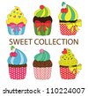sweet collection. vector illustration - stock vector