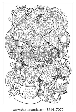 Lollipop Coloring Page