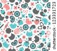 Sweet seamless pattern design - stock vector
