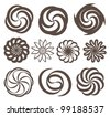Swirl icon vector set - stock vector