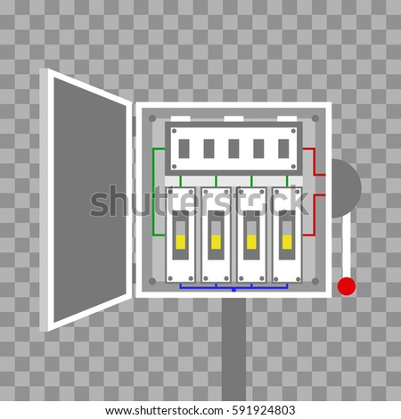 Breakers Switch Vector Flat Fuse Vector Stock Vector