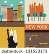 Symbols of New York. Vector - stock vector
