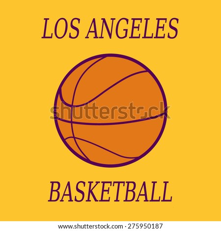 Basketball tournament flat style vector illustration stock Logo designers los angeles