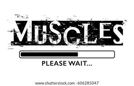 T shirt graphics slogan tee print stock vector 606285023 for Free gym t shirts