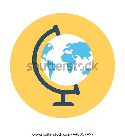Table Globe Vector Icon