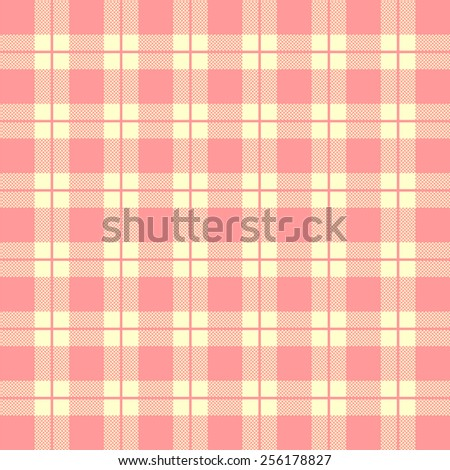 Tablecloth Woven Texture   Red Checkered Pattern