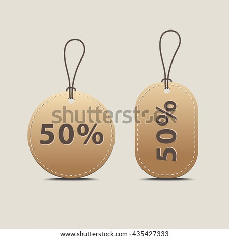 Tag sale promotion and gift card vectors. Price tags set.