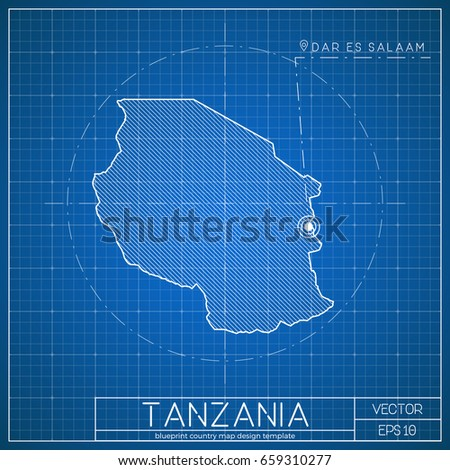 Netherlands blueprint map template capital city stock vector tanzania blueprint map template with capital city dodoma marked on blueprint tanzanian map vector malvernweather Image collections