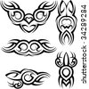Tattoo Arm Band Set - stock vector