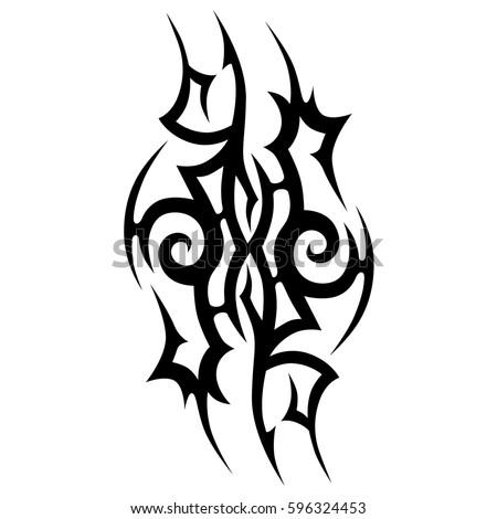 traditional maori tattoo design taniwha face stock vector 144778726 shutterstock. Black Bedroom Furniture Sets. Home Design Ideas