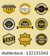 Taxi insignia - vintage style, vector illustration - stock vector