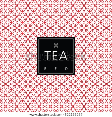 Tea packaging. Swatch seamless included.