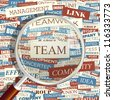 TEAM. Seamless word collage. Vector illustration. - stock photo