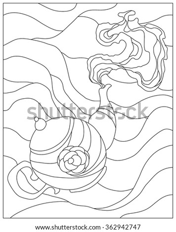 Miyu Nurs Coloring pages set on Shutterstock