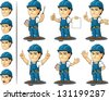 Technician or Repairman Mascot 3 - stock photo