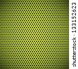 Technology background with green seamless grill speaker texture (circle perforated plastic) for internet sites, web user interfaces (UI), applications (app) and business presentations. Vector Pattern. - stock vector