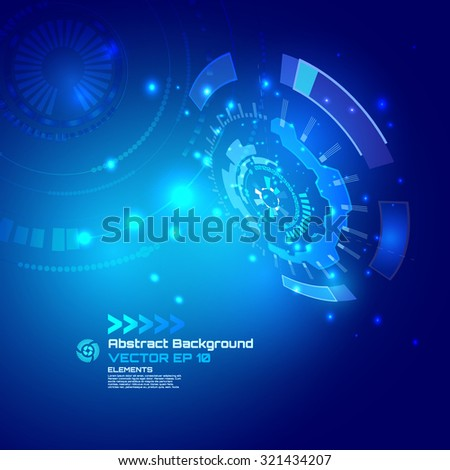 Technology futuristic digital background, HUD, Vector