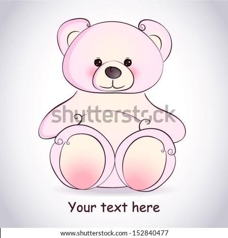 Teddy bear in vector format